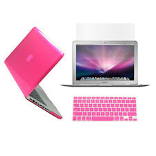 """3 in 1 Crystal HOT PINK Case for Macbook PRO 13"""" A1278 + KeyCover + LCD Screen"""