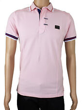 NEW Duck & Cover Mens Size S Pink Short Sleeve Polo Shirt Top