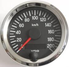 VDO Chrom Tachometer Tacho 80mm bis 200 Km/h