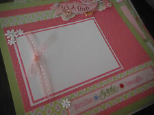 NEW NEW NEW Baby Girl 20 Page 12x12 Premade Scrapbook Pages in Set  All Handmade
