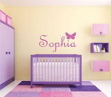 "Butterfly Monogram Name Girls Nursery Room Vinyl Wall Decal Graphics 30x16"""