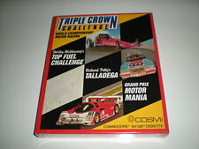 Triple Crown race car games for Commodore 64 by Cosmi. New. Factory sealed box.