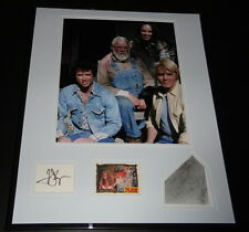 Dukes of Hazzard Cast Signed Framed Photo Display Pyle Bach Wopat Schenider