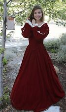 WOMEN Renaissance Dress RED VELVET clothes COSTUME DICKENS SM TO PLUS Mrs. Claus