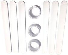 9 WHITE Silicone Slap Bracelets - Soft & Safe for Kids Boys & Girls Party Favors
