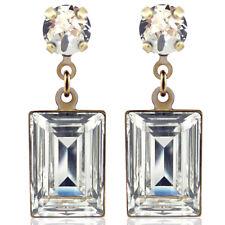 Ohrringe mit Kristalle von Swarovski® Gold Crystal NOBEL SCHMUCK