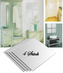 4 Stück Spiegelfliesen Klebespiegel Spiegelkacheln 30 x 30 cm 4-tlg. Spiegel Set