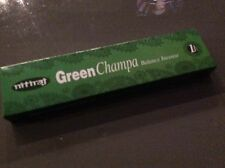 GREEN NAG CHAMPA - BALANCE Natural Slow Burning Incense Sticks 25g Box NITIRAJ