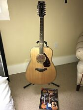 YAHAMA 12 String Guitar + Leather hard case. Great Condition.