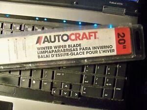 "Winter Wiper Blade AUTOCRAFT 20"". NEW IN SEALED WRAPPER."