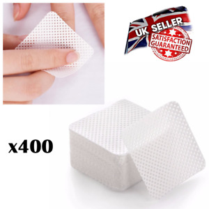 400 X Lint Free Nail Pads Gel Polish Remover Wipe Manicure Nails Melt Blown UK