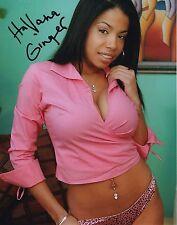 Havana Ginger Pink Shirt & Panties Adult Model Hand Signed 8x10 Photo COA Proof