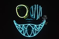 PopEye Glow El Wire Rave Party Festival EDCEDM Halloween Costume Handmade Mask!