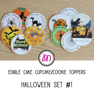 Pre Cut Edible Cake Toppers | Halloween Set 1 | 4 Sizes Available