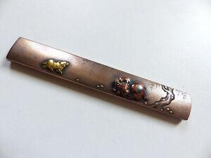 ANTIQUE 19th CENTURY KOZUKA JAPANESE EDO ANTIQUE FOR KOSHIRAE SIGNED (#4)