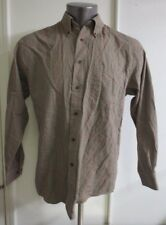 Pendleton Western Shirt Men M Wool Blend Plaid Lumberjack Canterbury Cloth Brown