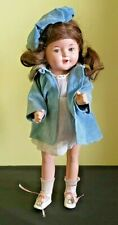 Vintage 1930's Composition Doll, Blue Sleep Eyes Unmarked