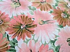 THREE UNCUT YARDS FLORAL  PINK.GREEEN WIHITE COTTON FABRIC