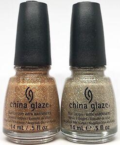 China Glaze Nail Polish I Herd That 1079 + I'm Not Lion 1080 Gold & Copper