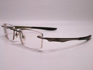 Oakley Evade Sporty Modern Brushed Chrome Metal Frames Eyeglasses