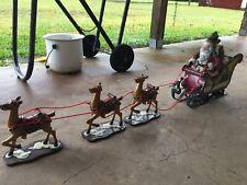 New Listingsanta sleigh and reindeer