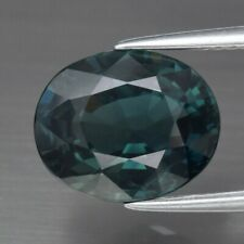 CERTIFICATE Incl.*Big! 4.15ct VS Oval Natural Unheated Green Blue Sapphire