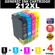 4x Generic Ink 212 212XL For Epson XP-2100 XP-3100 XP-3105 XP-4100 WF-2850 2830
