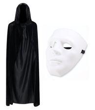 Jabbawockey Blanco Disfraz de Halloween vestido elegante conjunto (Negro Blanco y Cabo Máscara)