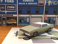Papercraft 1970 Ford LTD 4 door sedan Paper Model Car E Z U-make
