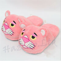 Pink Panther Mujer Relleno Dibujos animados· Invierno Calentar Zapatillas