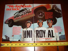 UNIROYAL TIRE THRILL DRIVERS STUNT CAR SHOW - 1973 ORIGINAL 2 PAGE AD