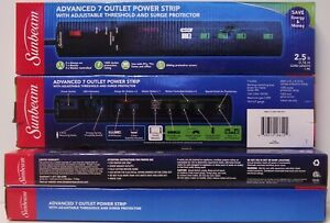 Sunbeam Advanced 7 Outlet Power Strip Outlet With Surge Protector 5 STRIPS