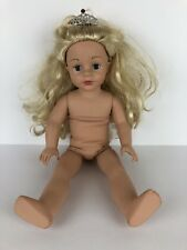 "Madame Alexander Play Pink Princess Girl Doll Blonde #68885 Crown 18"" Undressed"