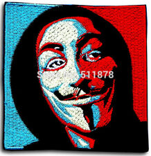 Anonymous Guy Fawkes Embroidered Patch Iron Sew on
