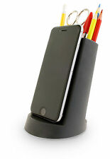 j-me Lean Desk Tidy Organiser iPhone Phone iPad Tablet Pen Pencil Holder Black