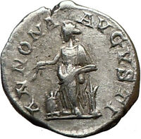 ELAGABALUS Bisexual Emperor 219AD Ancient  Silver Roman Coin ANNONA  i21265