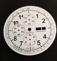 Watch dial for ETA Valjoux 7750 unused white - XXL dial new tachymeter