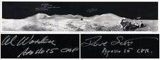 Al Worden Dave Scott Signed Panoramic 40.5''x8.5'' Photo