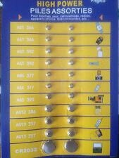 PILES BOUTONS ASSORTIMENT 6 REF: MONTRE, JEUX, CALCULATRICE, RADIOS , TELECOMMAN