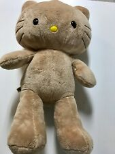 Build A Bear Hello Kitty Kitty Cat Plush Tan Bear Full Size 18""