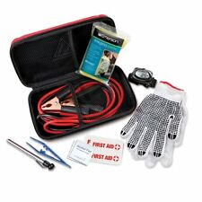 Roadside Auto Emergency Kit 10 Pieces Emerson,  Jumper Cables,Poncho, Gloves