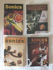 GARY PAYTON Pocket Schedules - SEATTLE SUPER SONICS - Lot of 4 Different