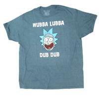 "New Rick & Morty ""Wubba Lubba Dub Dub"" Gray Mens Size 2XL 2XLarge Shirt"