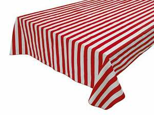 New Creations Fabric & Foam, 1 Inch Stripe Print Cotton Square Table Overlay