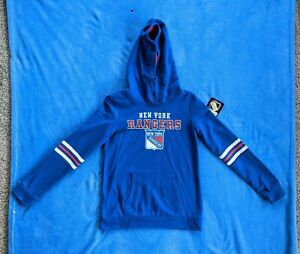 NEW YORK RANGERS Youth Large Hooded Sweatshirt New With Tag NHL Hockey