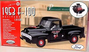Selten Ford F-100 Delivery Lkw 1953 Feuer Chief Texaco Miniatur Gearbox 1:18