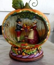 2009 Jim Shore Blessings of the Harvest Light Up Pumpkin