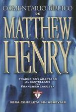 COMENTARIO BIBLICO MATTHEW HENRY / BIBLE COMMENTARY OF MATTHEW HENRY NEW HARDCOV
