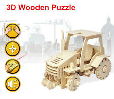 Remote Control Tractor Woodcraft Construction Kit 3D Wooden Model Craft Puzzle