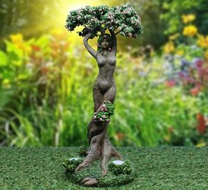Deluxe Enchanted Tree with Solar Lights Home & Garden Gnome Fairy Statue 35cm